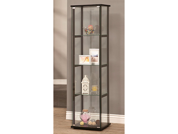 Modern Slim Curio Cabinet