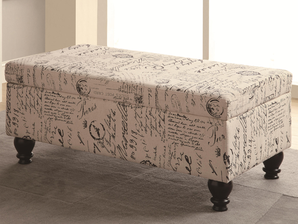 French Script Ottoman On The Go Living
